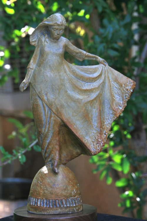 Before Thee, Lord Dancing Girl Bronze Statue by Annette Everette