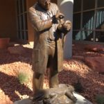 Dr. Andrew Barnum Bronze Monument by Annette Whitaker Everett