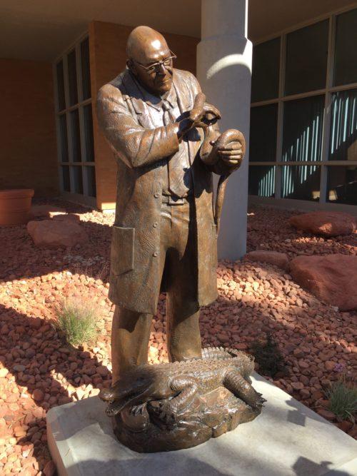 Dr. Andrew Barnum Bronze Monument by Annette Whitaker Everett